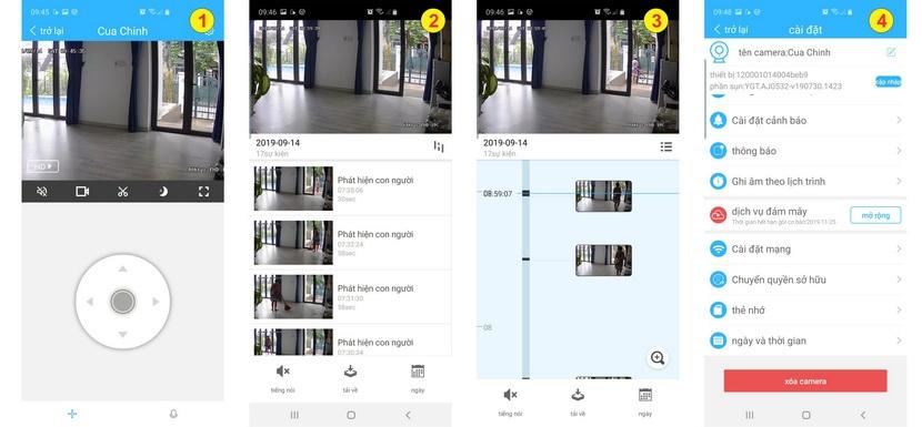 Camera Carecam CC665B kết nối với thiết bị di động