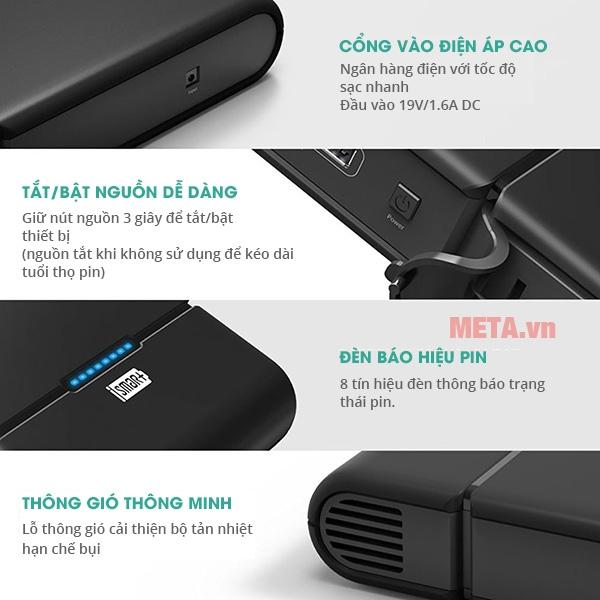 Vật liệu vỏ được làm từ hạt nhựa ABS+PC cao cấp
