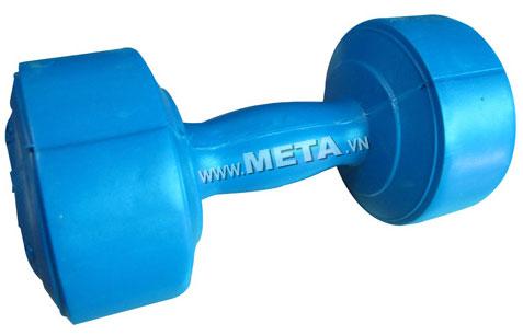Tạ tay nhựa 8 kg có màu xanh