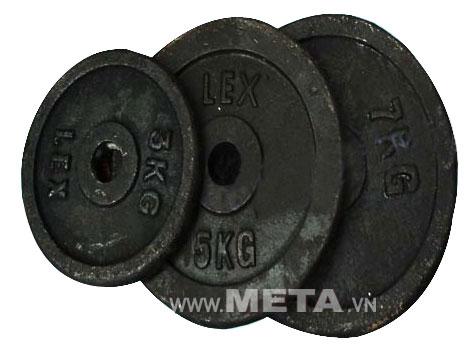 Tạ đĩa gang 2kg có màu đen mạnh mẽ