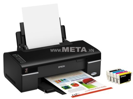 Máy in phun màu Epson Stylus Office T40W - Wifi đem đến khả năng in ấn linh hoạt và tiết kiệm.