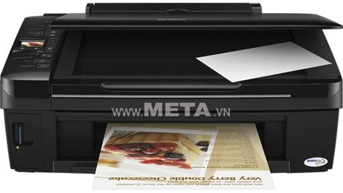 Máy in phun màu đa chức năng Epson Stylus TX220 có khả năng in ấn nhanh chóng, đẹp mắt, giúp hoàn thành công việc văn phòng hiệu quả nhất.
