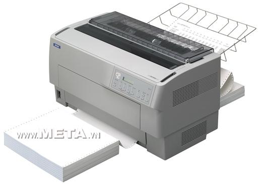 Máy in kim EPSON DFX9000 (khổ A3) có thể nạp giấy tiện lợi.