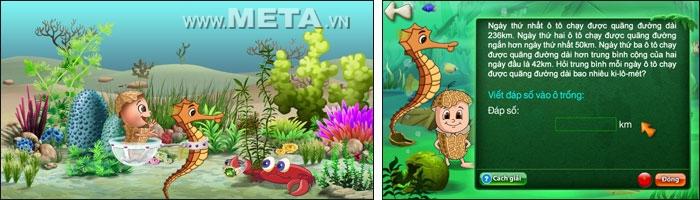 Đậu Lém phiêu lưu ký - Toán 4 đi tìm 6 chú rùa con