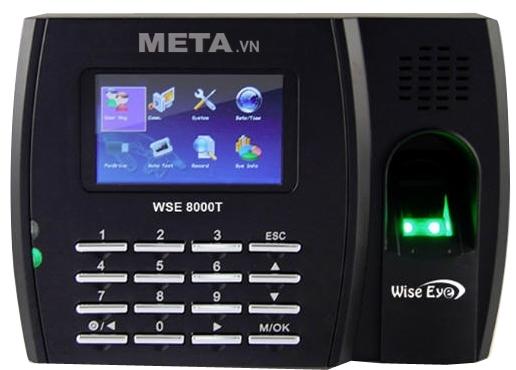 Máy chấm công vân tay, thẻ cảm ứng Wise Eye 8000T