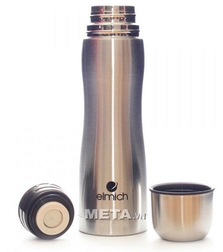 Bình giữ nhiệt inox Elmich N5 2246391 thiết kế nắp đậy kín và khít.
