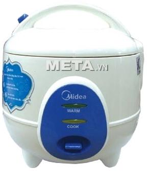 Nồi cơm điện Midea MR-CM06SB 0.6 lít dễ dàng sử dụng với một nút nhấn.