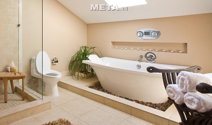 Đèn sưởi nhà tắm Kottmann 2 bóng K2B-HW-S phù hợp với tiện tích phòng tắm từ 4 - 8m2