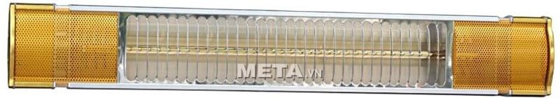 Đèn sưởi Heizen HE-IT110 sử dụng ánh sáng hồng dịu đặc trưng của tia hồng ngoại.