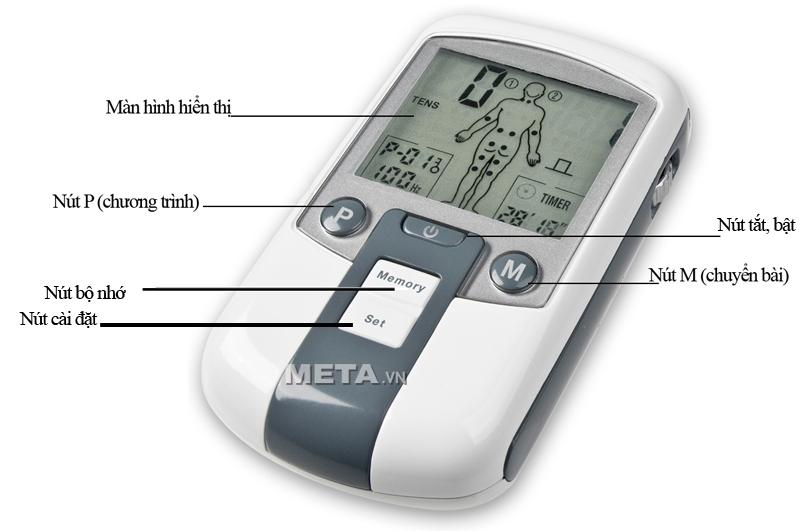 Cấu tạo của máy massage xung điện TDP