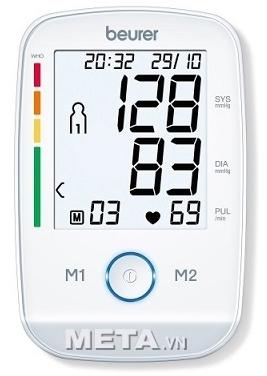 Đo huyết áp thường xuyên với máy đo huyết áp bắp tay Beurer BM45