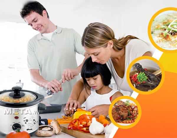 Nồi nấu cháo đa năng Hàn Quốc BBCooker giúp chế biến được nhiều món ăn dinh dưỡng cho cả gia đình.
