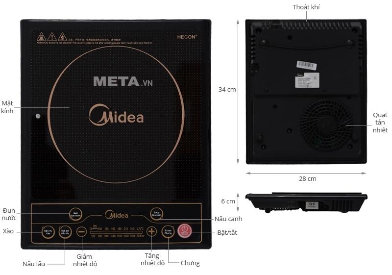 Bếp điện từ Midea MI-SV19EH dày 6cm