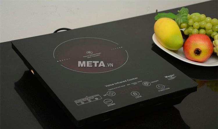 Mặt bếp hồng ngoại Magic A34 bằng chất liệu kính Ceramic dẫn nhiệt cực tốt