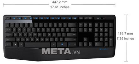 Kích thước bàn phím không dây Logitech MK345