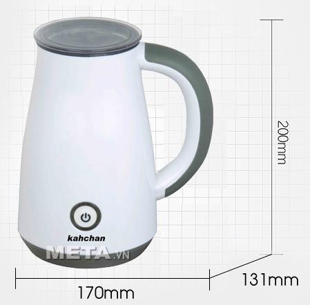 Kích thước của máy đánh sữa Kahchan EP2178