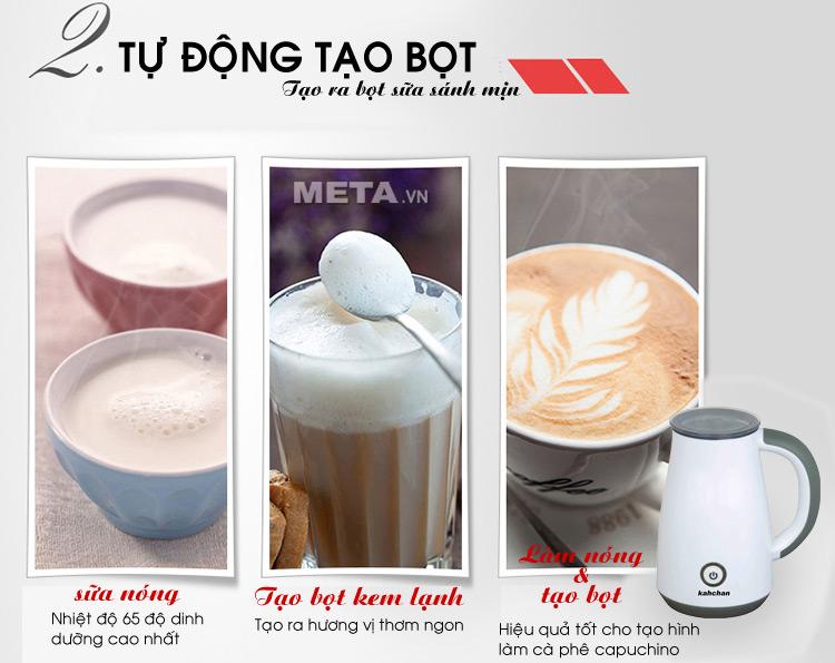 Máy đánh sữa Kahchan EP2178 có thể làm nóng và tạo bọt cà phê