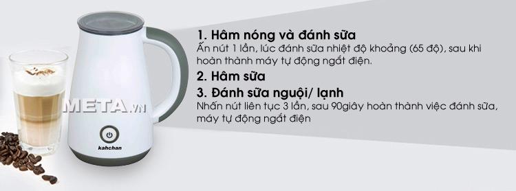 Cách sử dụng máy đánh sữa Kahchan EP2178