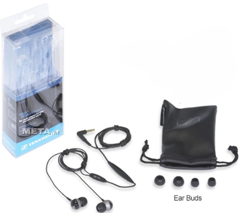 Đi kèm tai nghe Sennheiser CX 280 có 3 miếng đệm tai kích cỡ S, M, L để phù hợp ống tai khác nhau