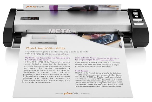 Máy scan Plustek D430 có thể quét tài liệu khổ A4