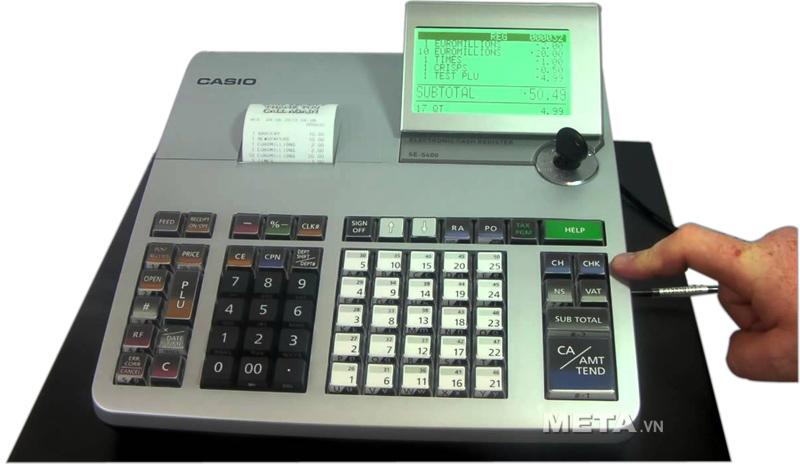 Máy tính tiền Casio SE-S400 có màn hình LCD lớn