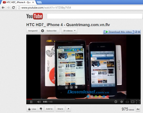 Download video từ YouTube với Internet Download Manager