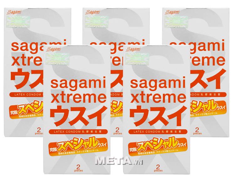 Bộ 2 hộp bao cao su Sagami Xtreme Superthin (hộp 2 chiếc)