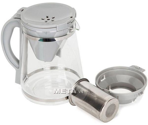 Các bộ phận của máy pha trà và cà phê Eurohome ECM-140  dễ dàng tháo rời để vệ sinh.