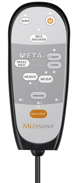 Bảng điều khiển của đệm massage toàn thân Medisana MC825