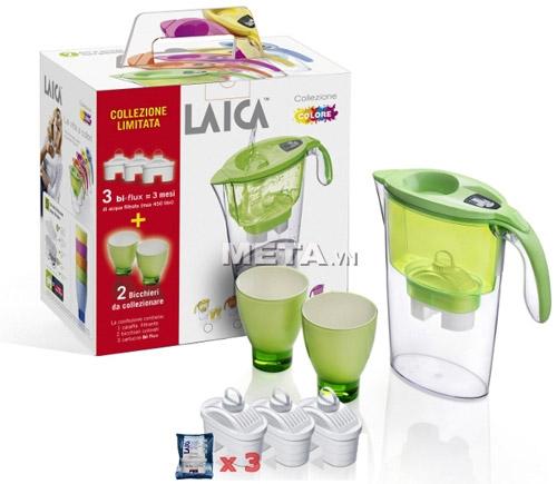 Bình lọc nước, cốc Laica có kiểu dáng sang trọng, phù hợp với mọi không gian sử dụng.
