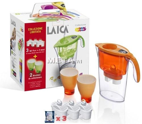 Bình lọc nước Laica không sử dụng điện giúp tiết kiệm điện năng