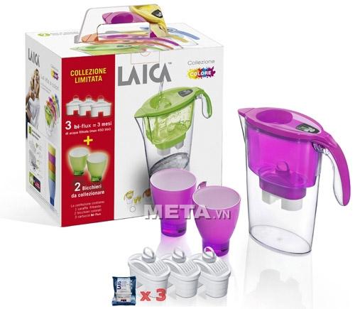 Bình lọc nước Laica có màu sắc trong suốt giúp bạn quan sát quá trình lọc nước dễ dàng.