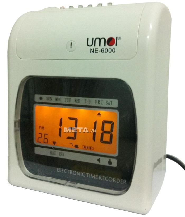 Máy chấm công thẻ giấy Umei NE-6000 là thiết bị chấm công thẻ giấy in kim, sử dụng cho những nơi có 50 đến 250 nhân viên