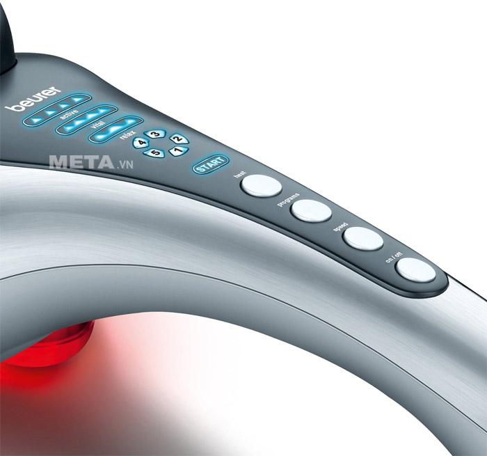 Nút điều khiển của máy massage cầm tay Beurer MG100
