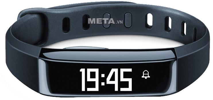 Đồng hồ cảm biến vận động Beurer AS80 có hiển thị giờ và chuông báo thức.