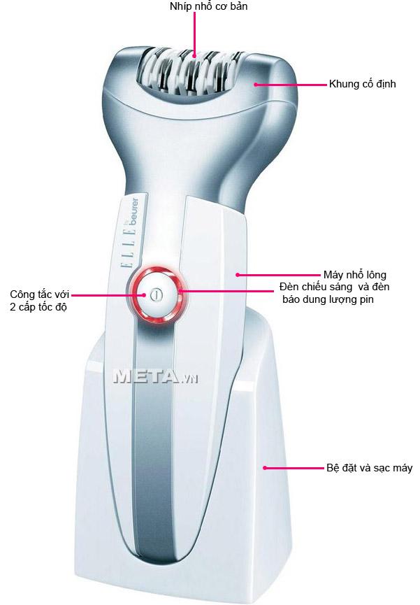 Máy tẩy lông Beurer HLE60 giúp loại bỏ gọn gàng và hiệu quả những sợi lông dài.