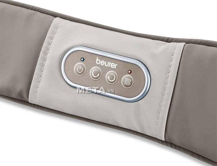 Bảng điều khiển của đai massage lưng, vai, cổ Beurer MG148