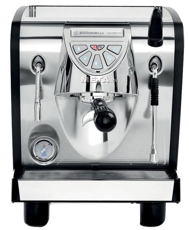 Máy pha cà phê Nuova Simonelli Musica Black được làm bằng thép không gỉ