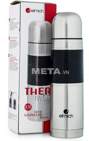 Bình giữ nhiệt Elmich inox 304 500ml S5 2245201 được đựng trong vỏ hộp sang trọng.
