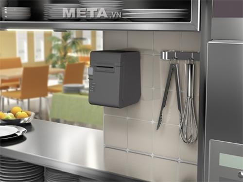 Máy in hóa đơn Epson TM-T82 được sử dụng rộng rãi tại các cửa hàng tạp hóa cũng như quầy ăn nhà hàng