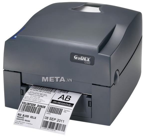 Máy in mã vạch Godex G500 có tốc độ in mã vạch, tem nhãn cực nhanh