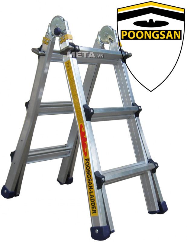 Thang nhôm Poongsan PS-43 có thể thu gọn, dễ dàng mang vác