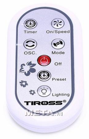 Điều khiển từ xa của quạt cây điều khiển từ xa Tiross TS956-1