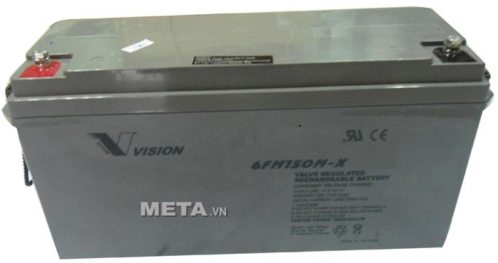 Ắc quy viễn thông Vision 150Ah công nghệ AGM (6FM150MV-X)