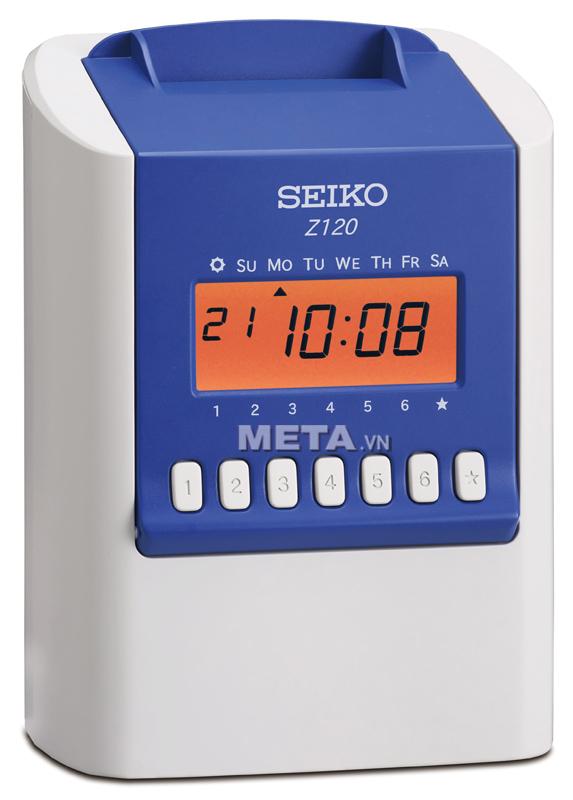 Máy chấm công thẻ giấy Seiko Z120 giúp chấm công chính xác