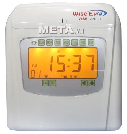 Máy chấm công thẻ giấy Wise Eye WSE 2700D tự động đổi màu mực in khi đi làm trễ hay về sớm