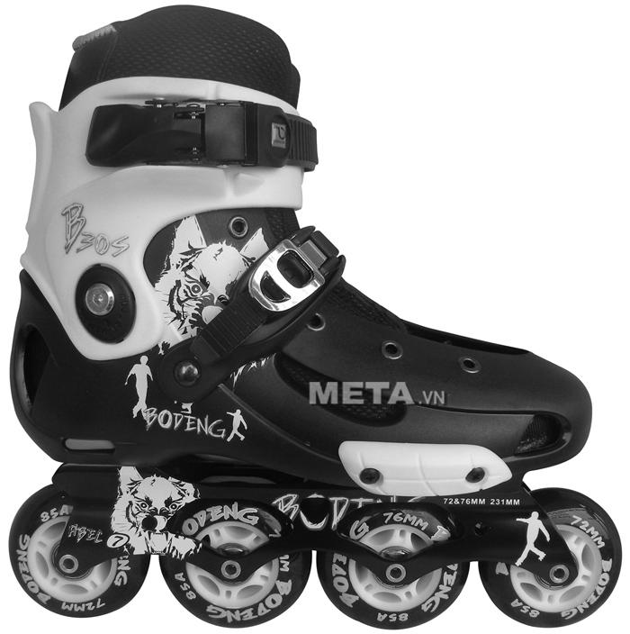 Giầy trượt patin BoDeng B30 màu trắng đen