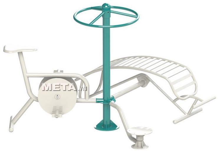 Cụm lưng bụng, xoay eo, xe đạp 723335