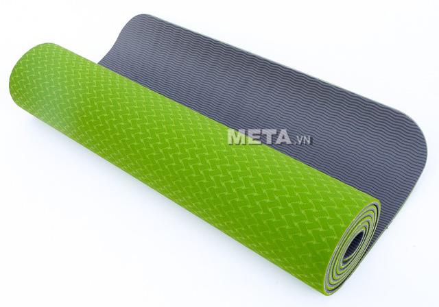 Thảm Yoga TPE Đài Loan êm ái có độ ma sát cao.