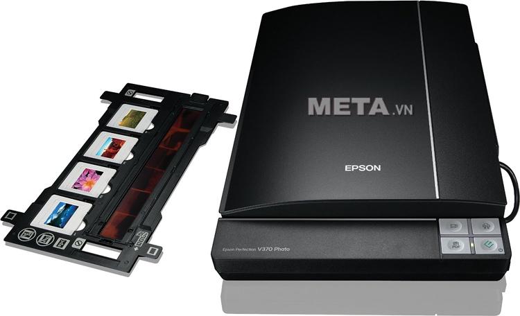 Máy quét Epson V370 trang bị 4 nút Copy, Scan, Email, PDF